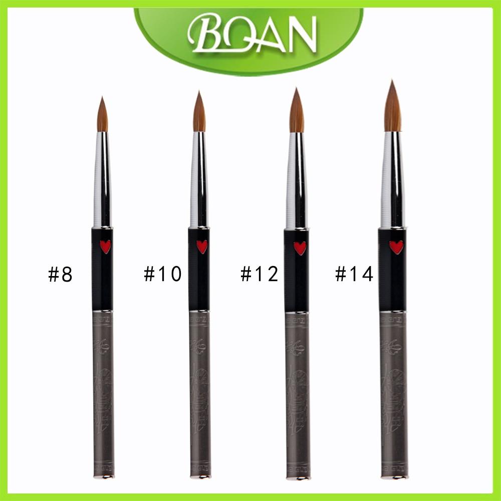 Retail 1pcs BQAN Own Design 100% Kolinsky Sable acrylic brush size 8#/10#/#12/#14 kolinsky sable acrylic kolinsky nail brush osaka acrylic nail kolinsky brush 14
