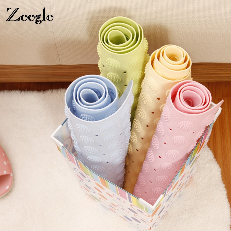 New Arrival PVC Shower Bathroom Floor Mat Anti Slip Bathroom and Toilet Carpet and Rug