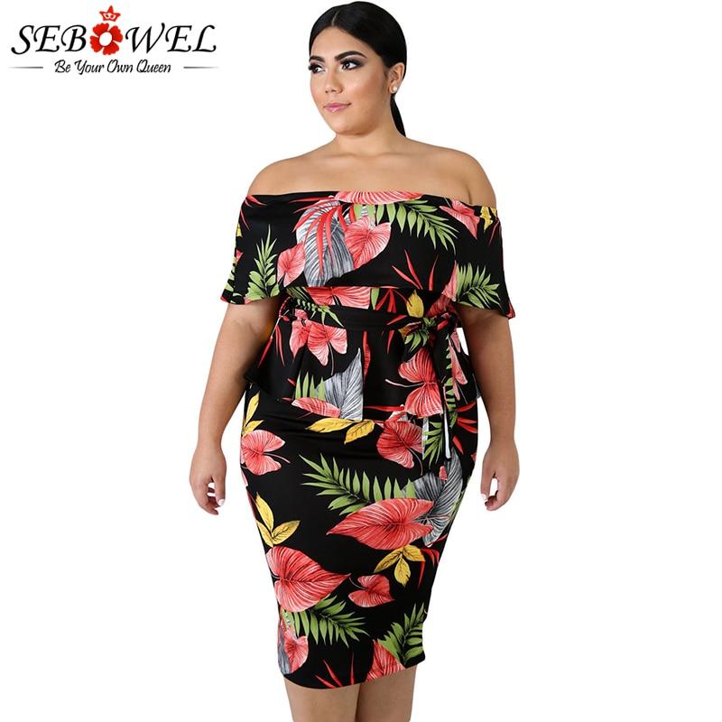 Detail Feedback Questions about SEBOWEL Tropical Print Plus Size ... 88d02113827a