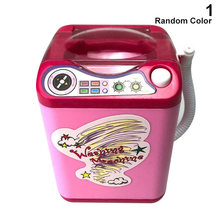 Kids Electronic Washing Machine Pre School Play Toy Washer Wash Beauty Sponges CD88(China)