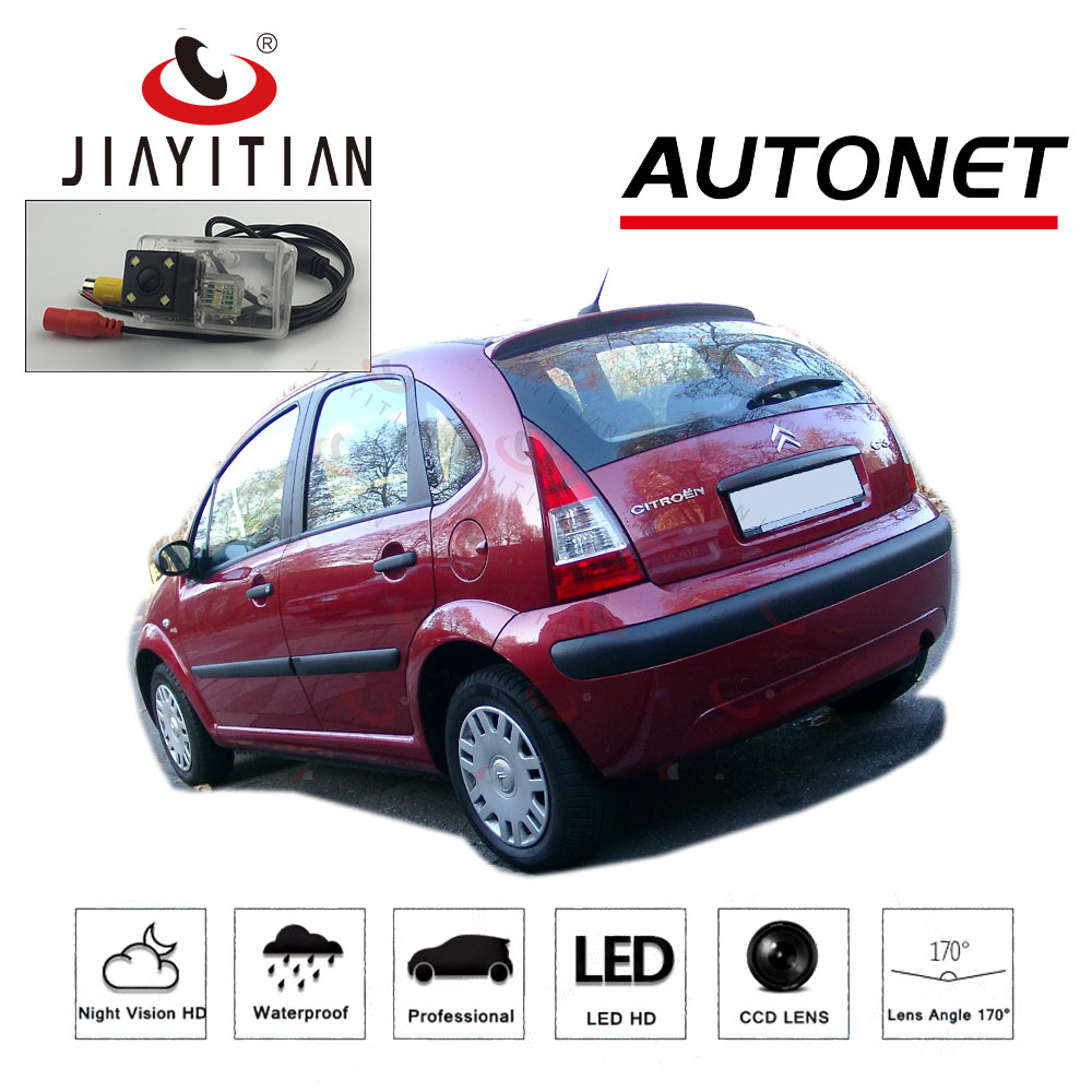 JiaYiTian Rear Camera For Citroen C3 hatchback Pluriel 2002~2009 CCD/Backup Camera/Night Vision/ License Plate camera Reverse