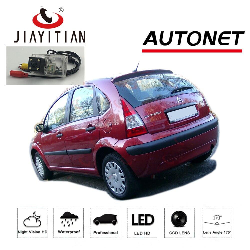 JiaYiTian arka kamera Citroen C3 hatchback Pluriel 2002 ~ 2009 CCD/geri görüş kamerası/gece görüş/plaka kamera ters