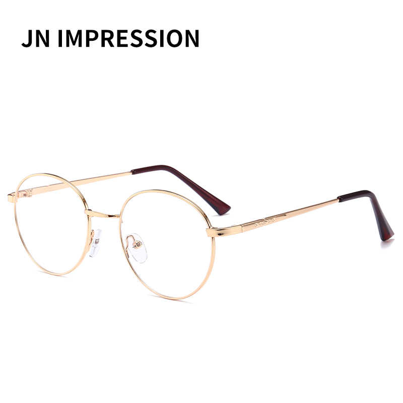 a0f5c3f758a ... Men women Round Sunglasses Retro Metal Frame Eyeglasses Korean Clear  Lens Glasses Male Female Optical ...