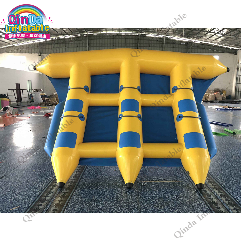 Aqua park inflatable water fly fish banana boat 4x3m flying inflatable boats for water gamesAqua park inflatable water fly fish banana boat 4x3m flying inflatable boats for water games
