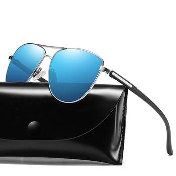 8ae6043521 Unisex piloto gafas de sol polarizadas para hombres deportes conducción  aviador Anti Glare Ray bann visión de noche, gafas de sol de protección uv