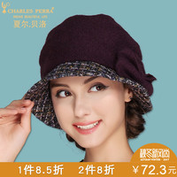 Hat Female Winter Handmade Knitted Wool Cap Female Fashion Thermal Knitting Hat Adult Autumn And Winter