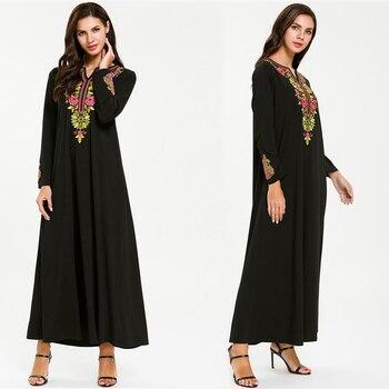 Abayas For Women Kaftan Abaya Muslim Dress Jilbab Caftan Elbise Ramadan Robe Dubai Qatar UAE Hijab Dress Turkey Islamic Clothing muslim women dress abaya short sleeved small dots pattern marron robe dubai caftan clothing