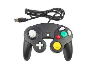 10 unids/lote controlador de juego USB con cable palanca de mando portátil para Nintendo para MAC PC Gamepad