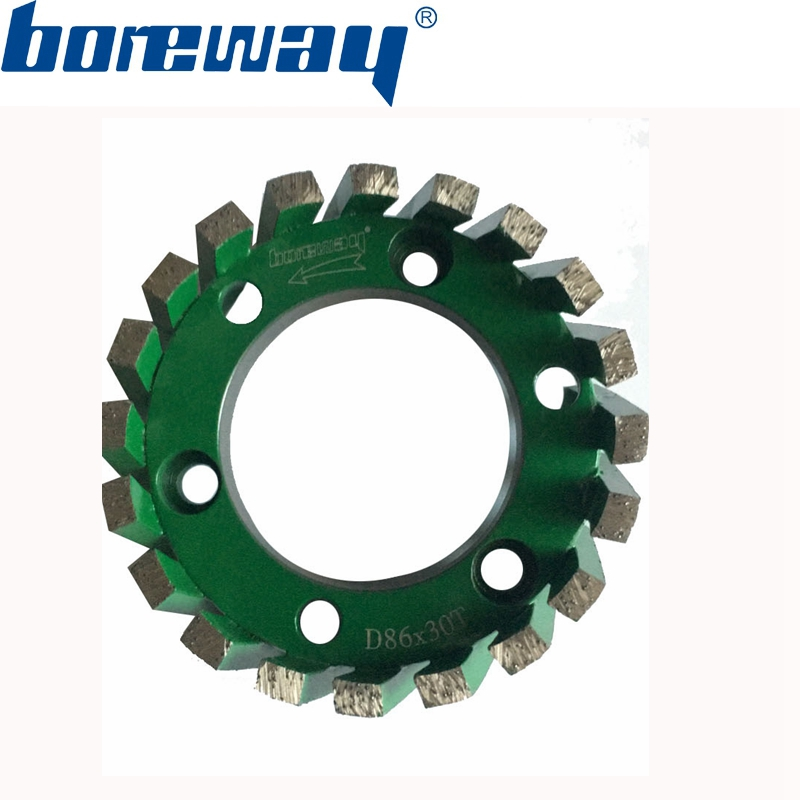 Hot Sell D86 30T 50H Sintering Standard Stubbing Wheels Drain Board Wheels For Stone Processing