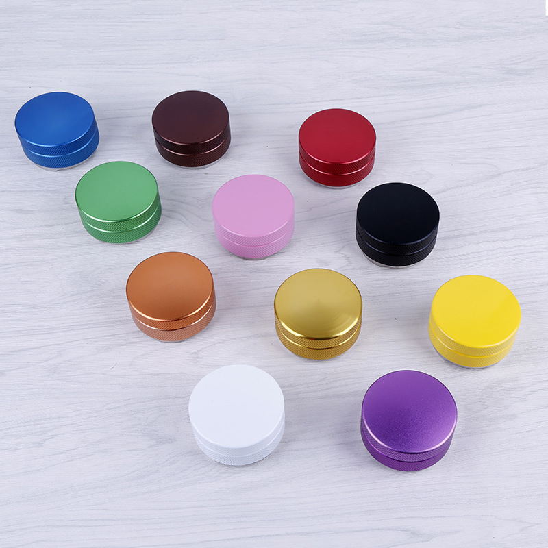 58mm Stainless Steel Coffee Tamper Three Angled Slope Aluminum Alloy Matte Professional Espresso Wbc Adjustable Macaron Tampers in Coffee Tampers from Home Garden