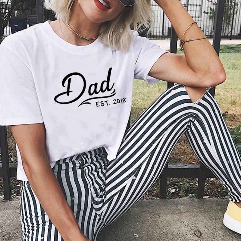 40c2d021ca Dad EST Fashion Shirt Casual Printed T shirt Couple Tops kawaii simple  style funny cotton grunge tumblr goth party tees t shirt -in T-Shirts from  Women's ...