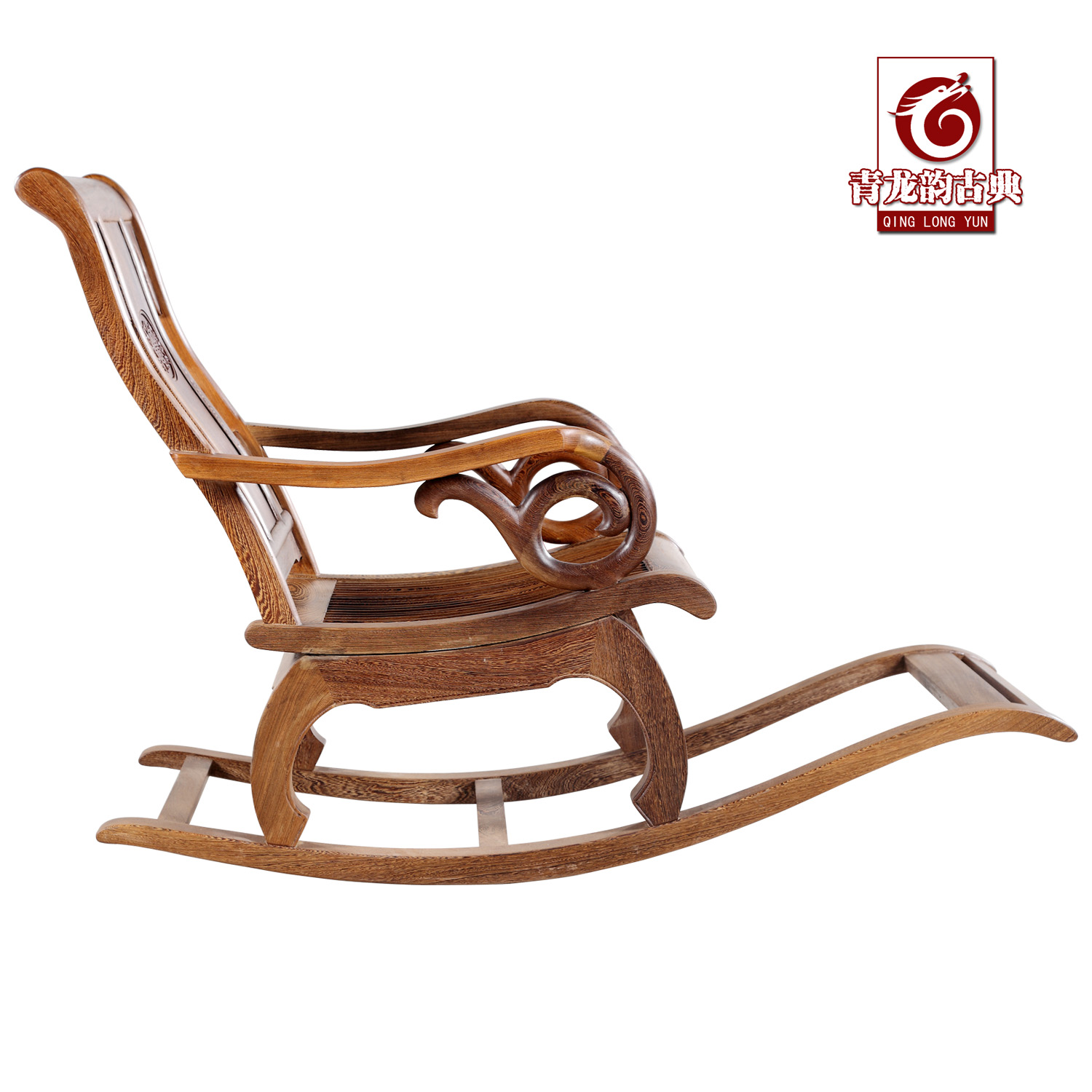 Wenge rocking chair factory direct Chinese rosewood furniture in