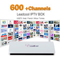 Conta Leadtv 600 Europa Canais Com Set Tv Leadcool Android 4.4 Quad Core Caixa de Céu Itália REINO UNIDO DE Turco Espanhol Suécia Pacote