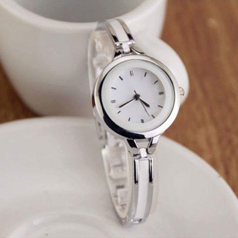 Women Girls Relojes Luxury Analog Display Quartz Relogio Guld Silver - Damklockor - Foto 5
