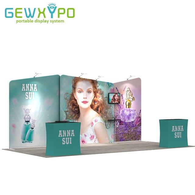 Exhibition Booth Size : Ft exhibition booth size portable pop up banner advertising
