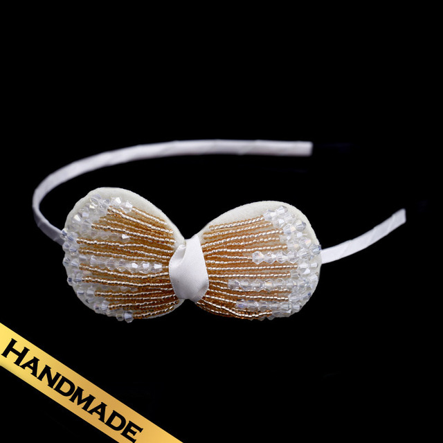 Special Hair Accessories Silk Crystal Fashion Handmade Sweet Design Hair Band Free Shipping Bowknot Jewelry FS13A092004