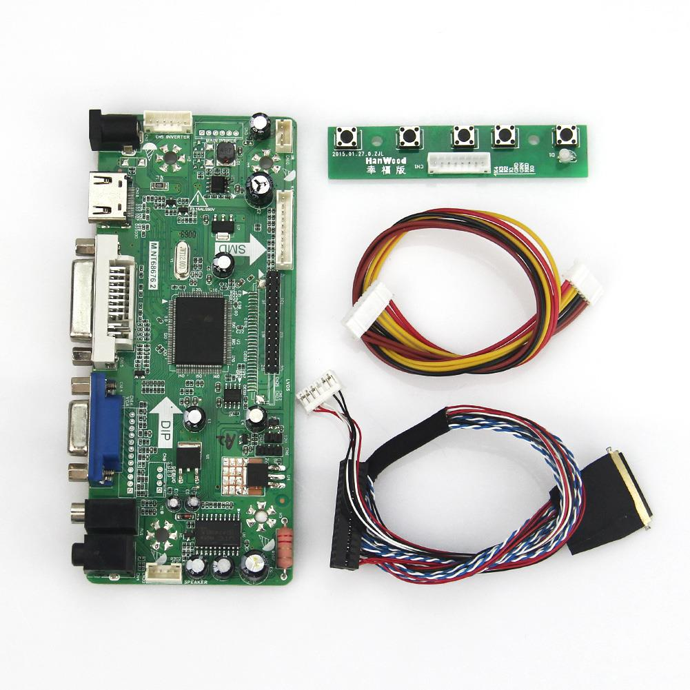 M.NT68676 LCD/LED Controller Driver Board(HDMI+VGA+DVI+Audio) LVDS Monitor Reuse Laptop 1920*1080 For LP173WF1 HSD173PUW1-A00 m nt68676 2a universal hdmi dvi vga audio lcd led controller board lvds diy reuse laptop for raspberry pi