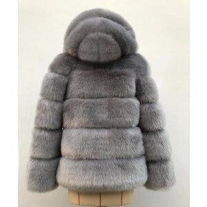 Image 5 - ZADORIN 2020 Winter Thick Warm Faux Fur Coat Women Plus Size Hooded Long Sleeve Faux Fur Jacket Luxury Winter Fur Coats bontjas