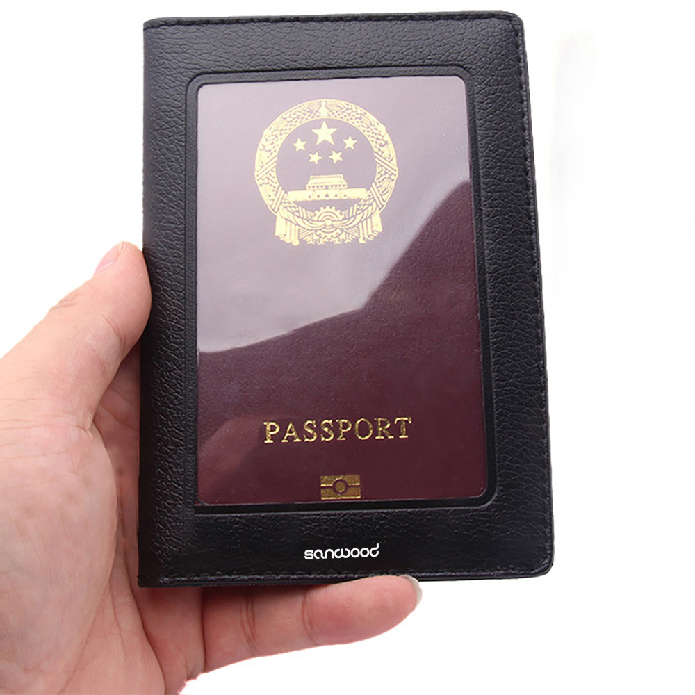 Fashion Passport ID Card Document PVC Cover Case Holder Travel Card Holder Fits Standard Passport Small Wallet For Women And Men