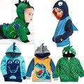 2016 outono camisolas casaco de pano, europa e os Estados Unidos little monsters hoodies, 2-7 anos de idade do sexo masculino hoodies do bebê