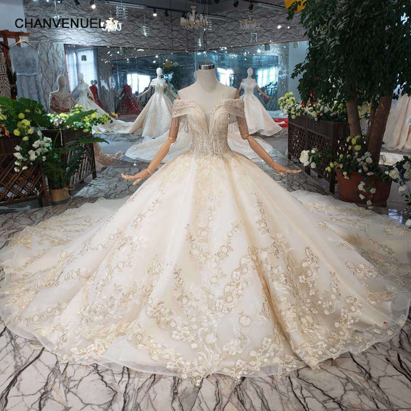 Royal Wedding Ball Gown: LS20077 Luxury Ball Gown Wedding Dress With Royal Train
