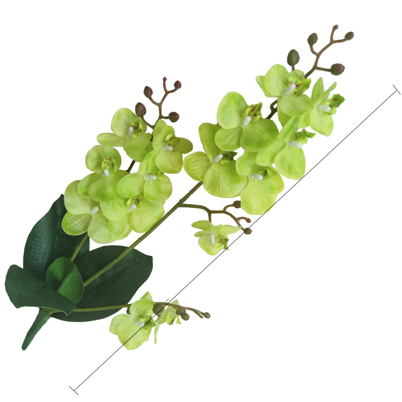 JAROWN Artificial Real Touch Latex Butterfly Orchid Flores 3 Branch 15 Head Band Leaf Fake Flower Wedding Decor Home Decorations (71)