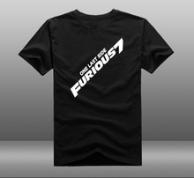 2015 Movie Fast & Furious 7 T-shirts Printing Pattern Cotton Mens Casual Short Sleeve Tee Shirts Tops Clothing