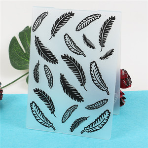 Feather Plastic Embossing Folder Template For Scrapbooking Photo Album Paper Card Background Decoration