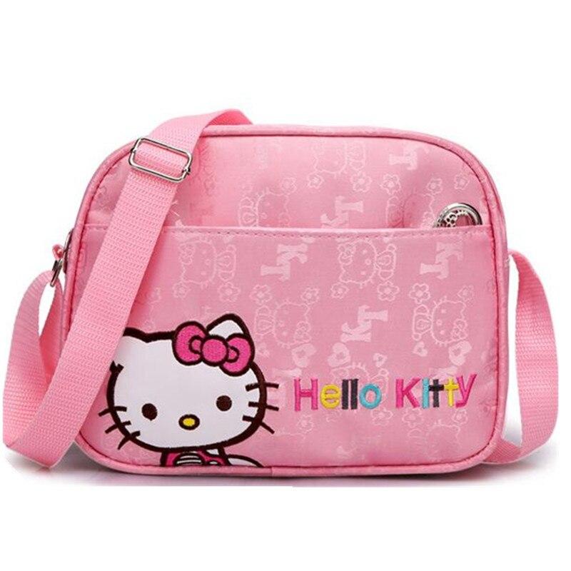 Cute Mini Crossbody Bag Children Hello Kitty Handbag for Women Cartoon Cat Waterproof  Shoulder Bag Kids Girls Messenger Bags-in Crossbody Bags from Luggage ... 75ebc508e5