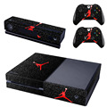 Removable Basketball Legend Michael Jordan Red Air Vinyl Cover Xboxone Skin Sticker For Xbox One Console & 2 Controller & Kinect