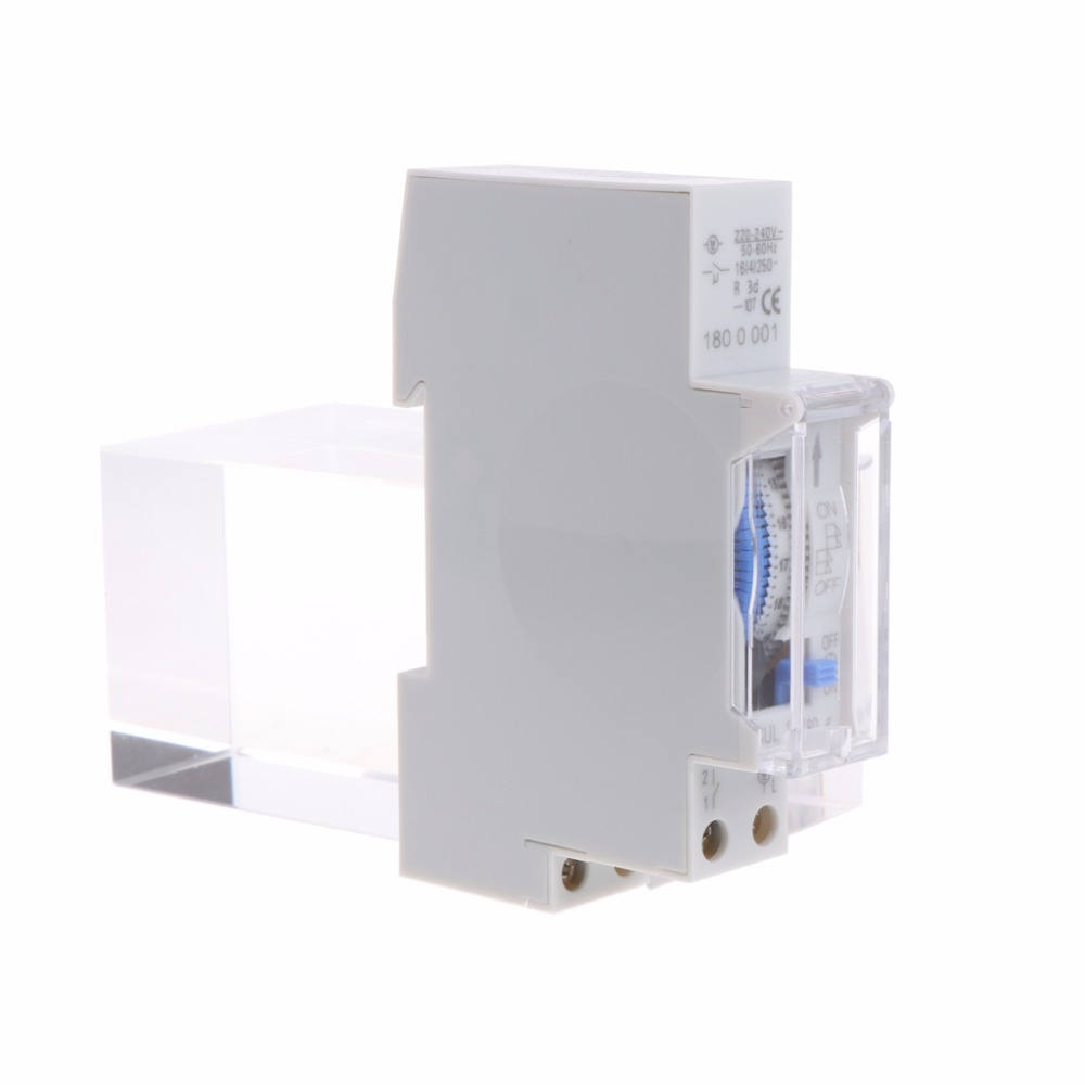 AC 110V/AC 220V 15 Minutes Mechanical Timer Switch 24 Hours Programmable Din Rail Switches