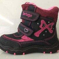 2017 New Children Girls Boots For Kids Girls Snow Boots Lovely Flat High Warm Winter Shoes