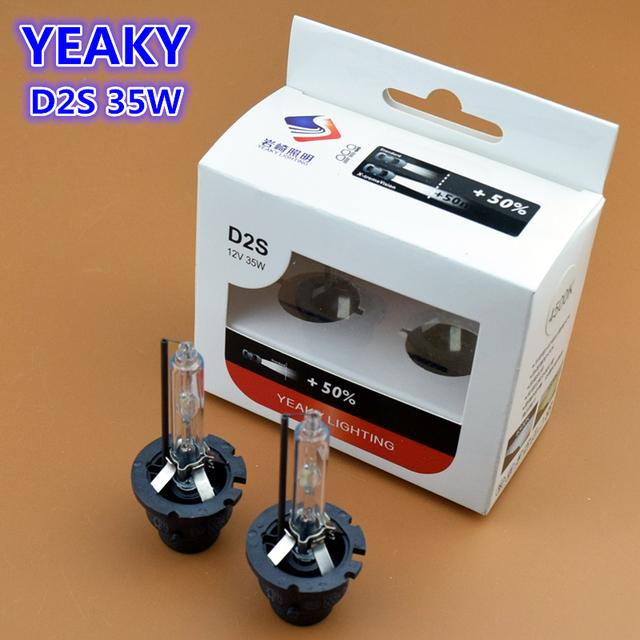 100% Original Yeaky 12 V AC 35 W D2S HID Xenon Cabeça lâmpada de Feixe Único Farol Substituição Lâmpadas 4500 K 5500 K 6500 K Carro Styling