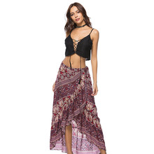 d9740eb2bf071 Women s Long Bohemian Style Gypsy Boho Hippie Skirt Sexy Women Clothes  Summer Floral Printed One Size
