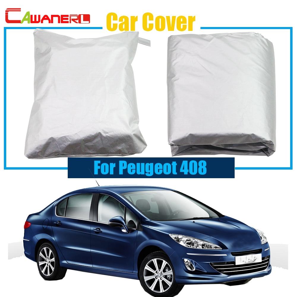 Cawanerl Car Cover Sun Shade Protection Cover Anti Uv Rain Snow Sun