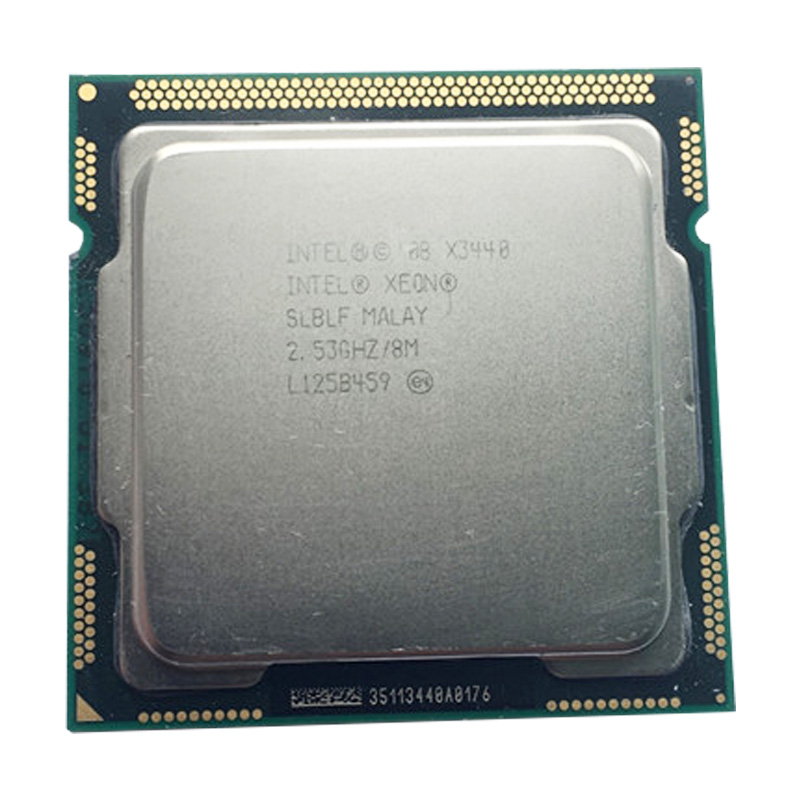 INTEL Xeon X3440 CPU LGA1156 socket /2.53GHz /L3 8MB /Quad-Core <font><b>processor</b></font> x3440 Server CPU image