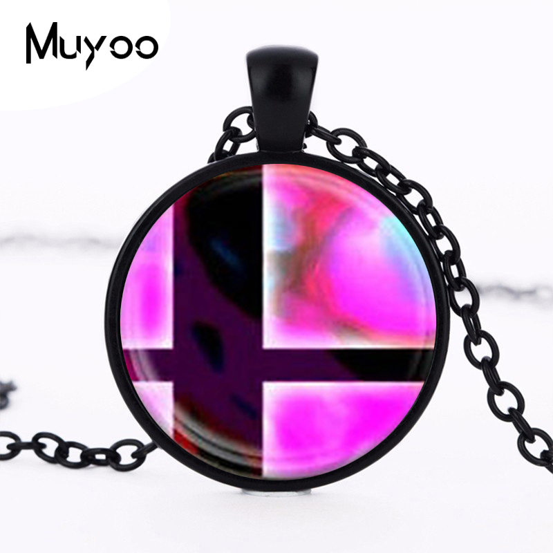Super Smash Bros Ball and Black Mens chain Handmade Fashion brass Necklace silver Pendant steampunk Jewelry Gift women toy HZ1