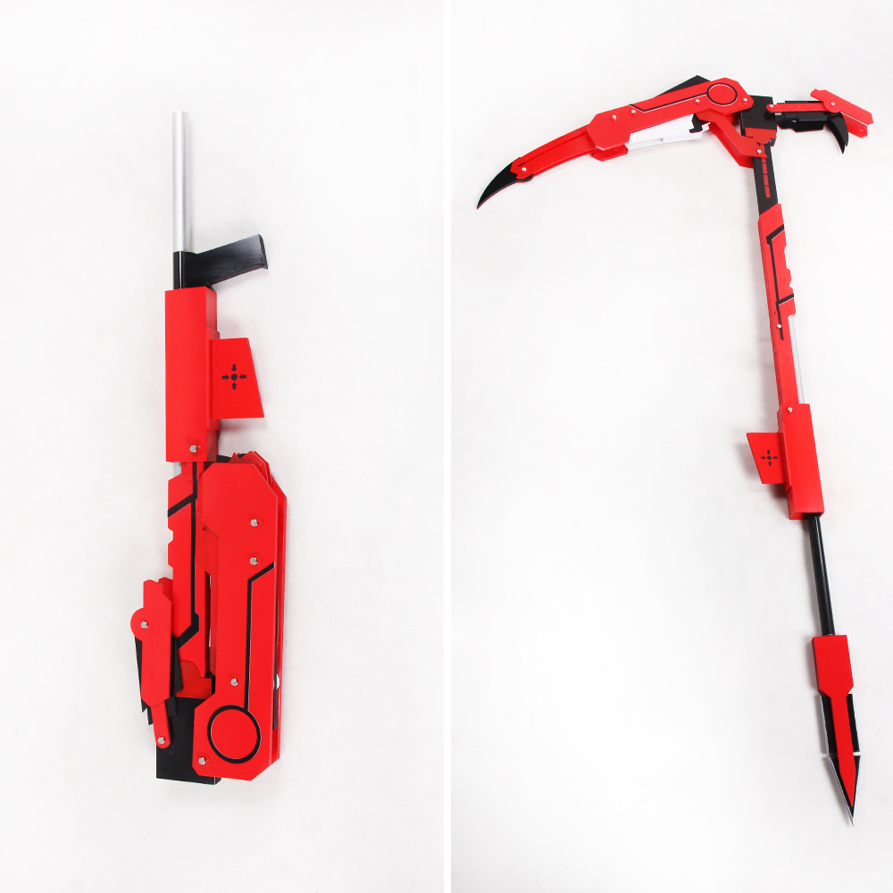 New RWBY Ruby Rose Cosplay Foldable design Crescent Rose Sniper Rifle Prop Weapon mp003576