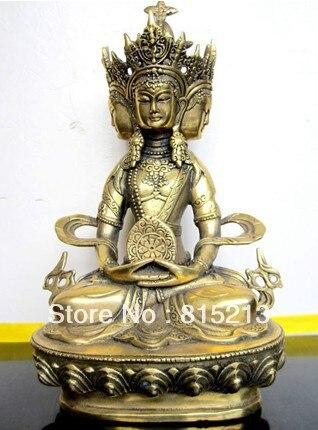 Free Shipping Bi0062 Buddhist Bronze VAIROCANA, Herr Der Mitte Buddha Statue