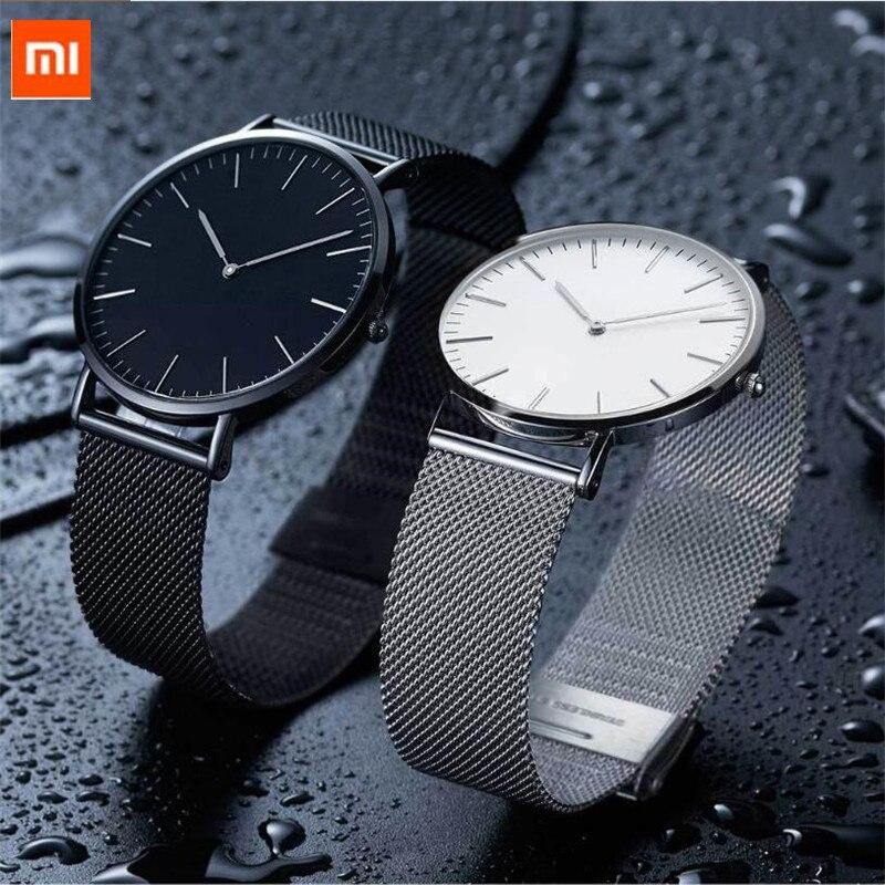 Xiaomi TwentySeventeen light ultra thin quartz watch couple model 22MM width 5 5mm slim body Casual