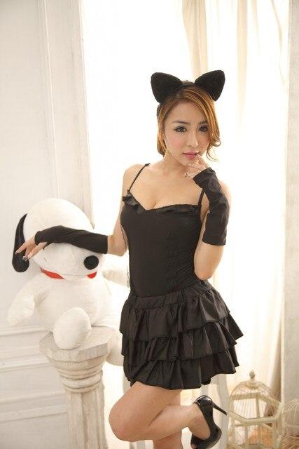 Can Tear Free Shipping Sexy Cat Girl Cat Ladies Rpg Rabbit Women Halloween Dress Uniform Temptation