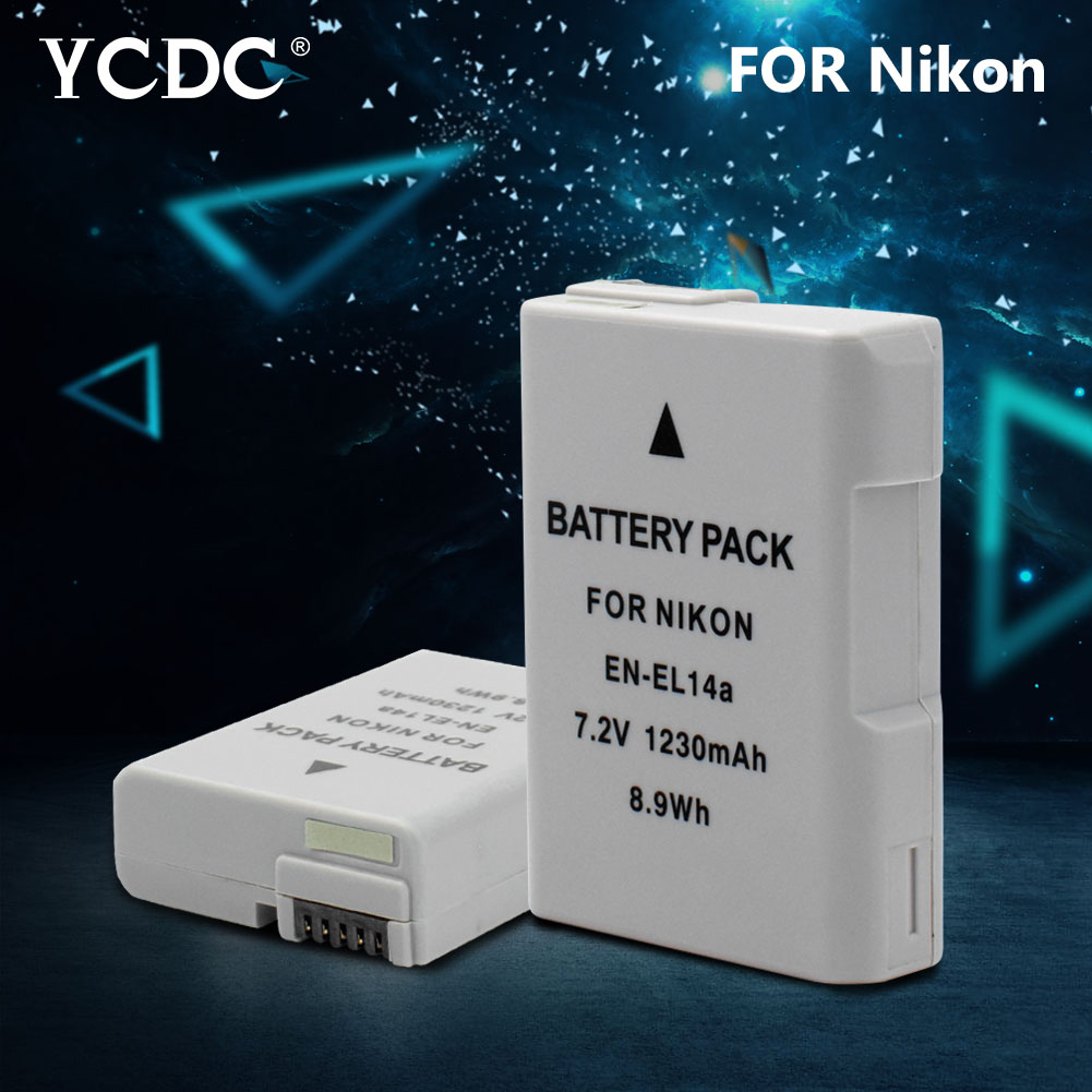 цена на 1pc EN-EL14A 1230mAh 7.2V Rechargeable Li-ion Camera Battery for Nikon D3100/D3300/D5100/D5500/DF/Coolpix P7100/Coolpix P7800