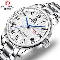 스위스 카니발 시계 남자 자동 기계 남자 시계 relogio masculino 사파이어 남자 럭셔리 브랜드 손목 시계 C8666-3