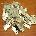 Envío rápido de la bisagra de Hardware caja de 1 pulgadas redondeado bisagra de cobre 24*20mm de cristal de regalo de madera bisagra del gabinete