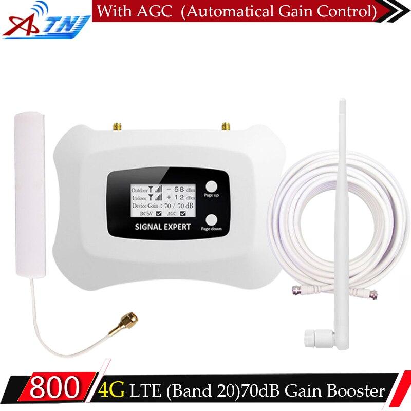 ATNJ LTE 4g 800 mhz Signal Booster 4g Mobile Signal de Téléphone Répéteur cellulaire Amplificateur de signal LTE 4g répéteur 2g 3g 4g Antenne