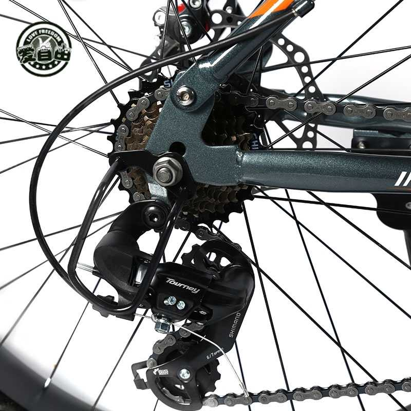 Bicicleta de Montaña Love Freedom de alta calidad, bicicleta de montaña de 21/24 velocidades, 26 pulgadas, 4,0, neumático grueso, bicicleta de nieve, disco doble, bicicleta absorbente de golpes