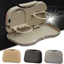 купить Child Car Seat Tray Car Seat Foldable Table Kids Toy Food Water Holder Children Portable Table For Car Baby Food Desk Storage дешево