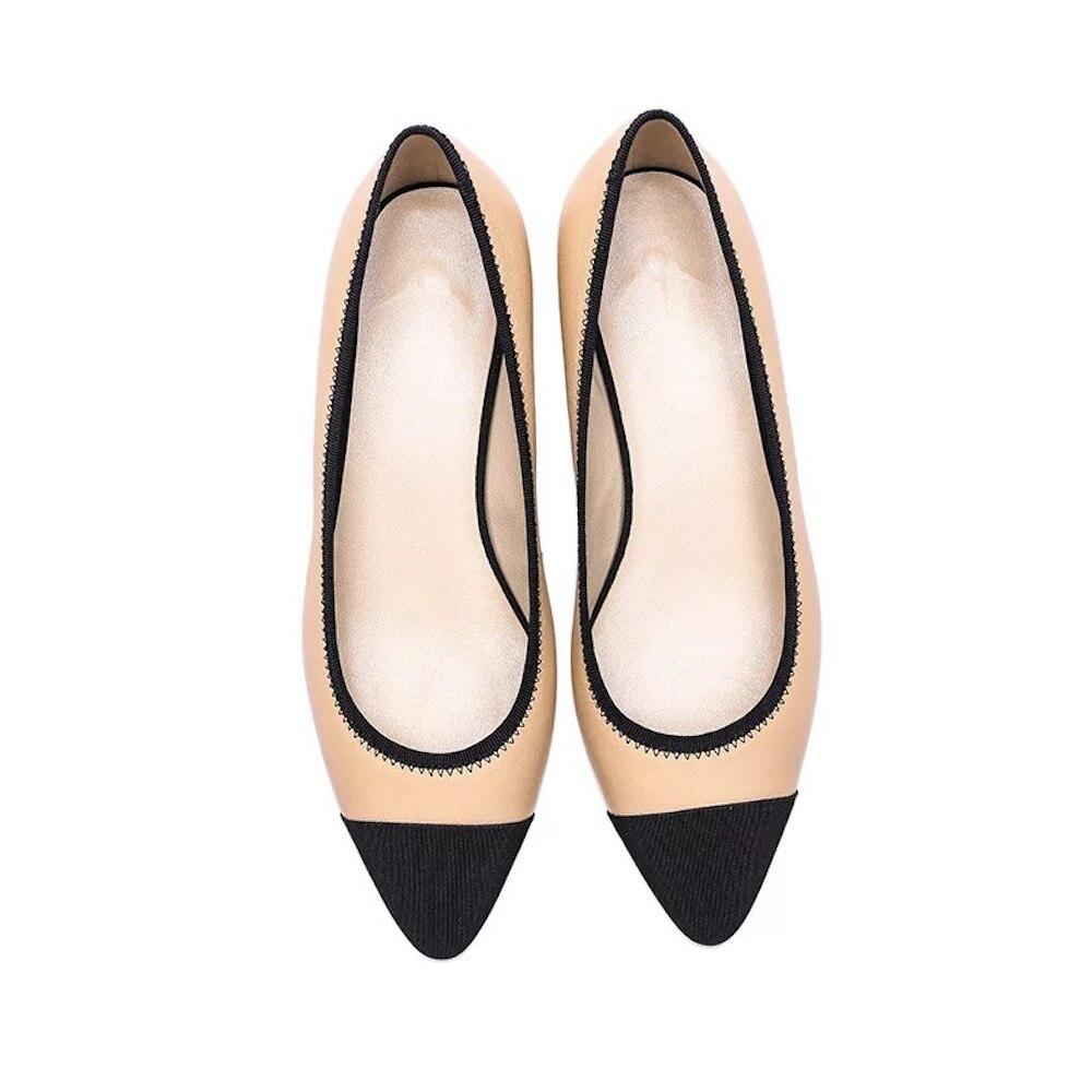 Diseñador Zapatos Black Marca white azul black Cielo Black Tacón Genuino 2019 Nuevo Cuero Nude Mujer De Plus Bombas Punta White Tamaño I Casuales Gatito Dama 8atvaqA