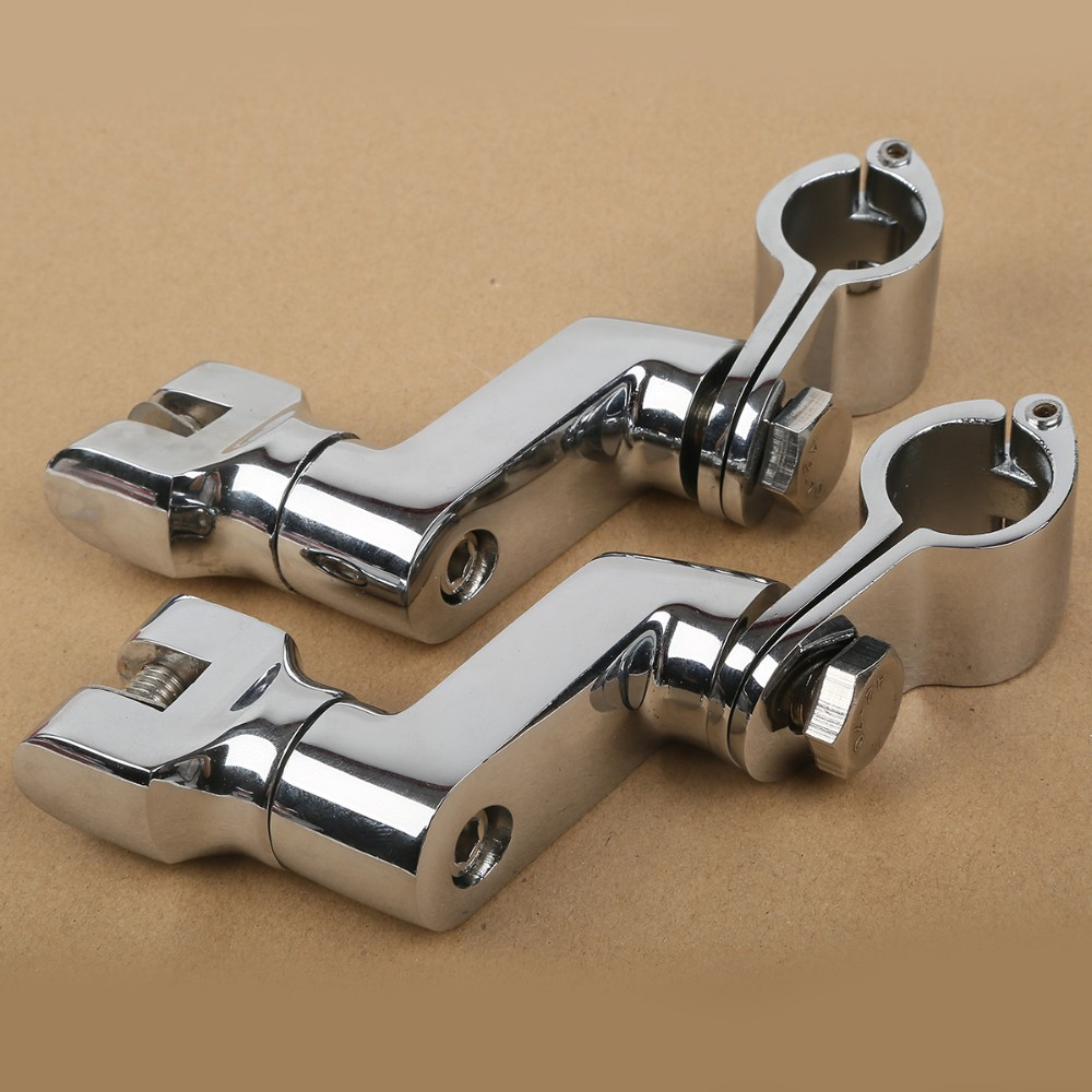 Free Shipping Universal Chrome Front Foot Rest FootPeg For Honda Goldwing GL1800 GL 1800 2001-2012 Footrest Peg chrome front foot rest foot pegs for honda goldwing gl1500 gl1100 gl1200