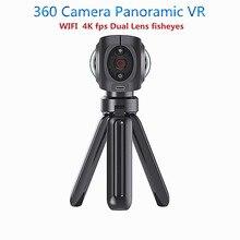 Мини 360 Камера панорамный VR двойной fisheyes объектив Камера виртуальной реальности Wi-Fi VR видео ручной Камера для Android/IOS